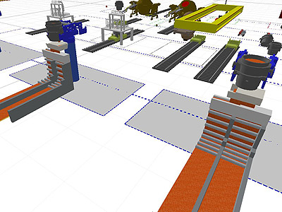 Steel Plant Model for 3D BOF Plant Simulation
